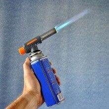 Многофункциональный пьезо газовая горелка огнемет Бутановая горелка для выпечки горелка для барбекю Кемпинг путешествия пожарный пистолет для газопламенного напыления