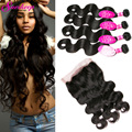 360 Lace Frontal With Bundles Peruvian Body Wave With Frontal Closure 3 Bundles With Closure Body Wave Bundles With 360 Frontal