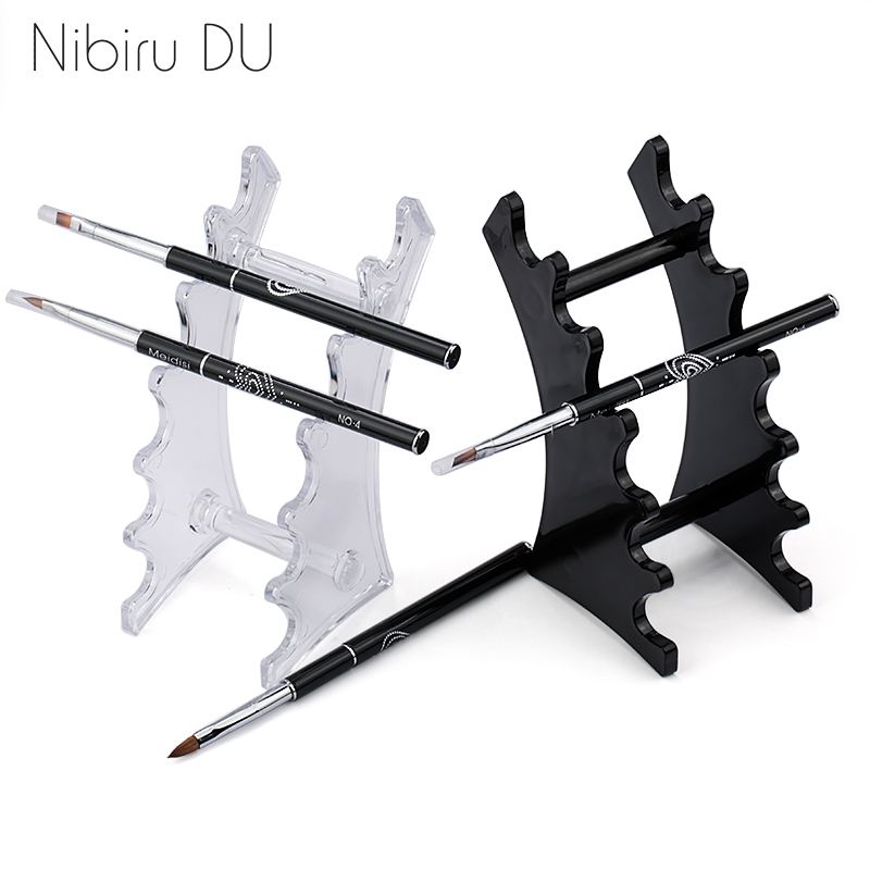 1 Set Nail Art Brush Holder Nails Salon Brushes Pen Rack Accessory Carving Carrier Storage Manicure Tool Acrylic Holder Stand