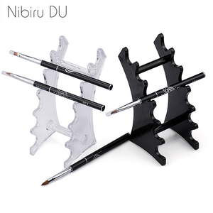 1 Set Nail Art Brush Holder Nails Salon Brushes Pen Rack Accessory Carving Carrier Storage Manicure Tool Acrylic Holder Stand(China)