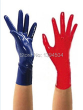 2017 Hot Sale Top Fashion Sexy Lingerie Dress Latex Wrist Gloves Women Zentai Sexy Fetish Short
