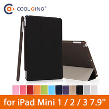 Tri-folded Tablets Case For iPad Mini 1/2/3 7.9 Inch Protective Cover Smart Tablet Case For iPad Mini Case Mini 1 2 3 7.9'' Case недорого