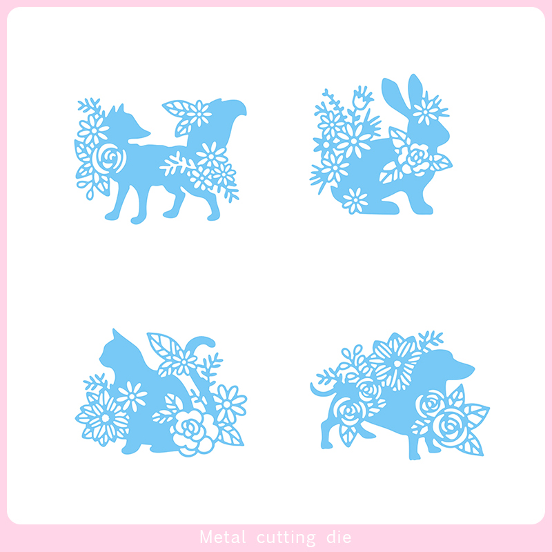 Metal Cutting Dies Animals and flowers Die Scrapbooking Embossing Paper Craft Album Cards Punch Art cutter die 2019 in Cutting Dies from Home Garden