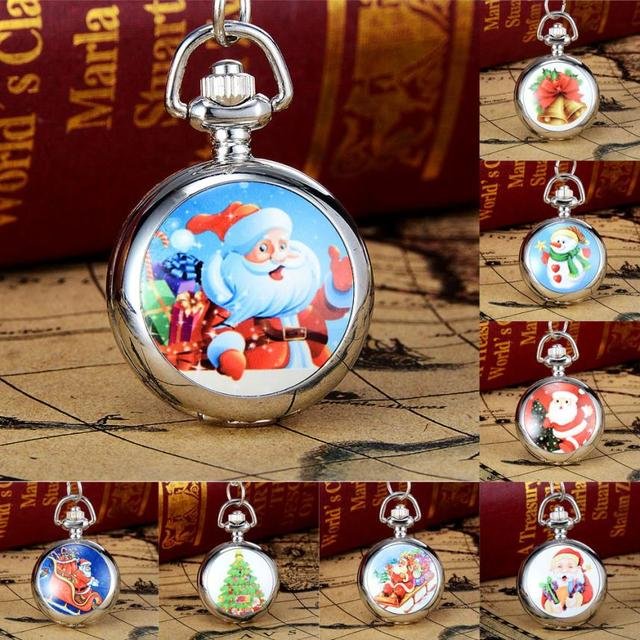 2017 New Arrival Christmas Pocket Watches 40cm Band Length Vintage Style Pocket