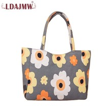 aa6d1682ab LDAJMW Women Casual Tote Handbag Canvas Bag Zipper Shopping Bag Large  Capacity Beach Bag Ladies Single