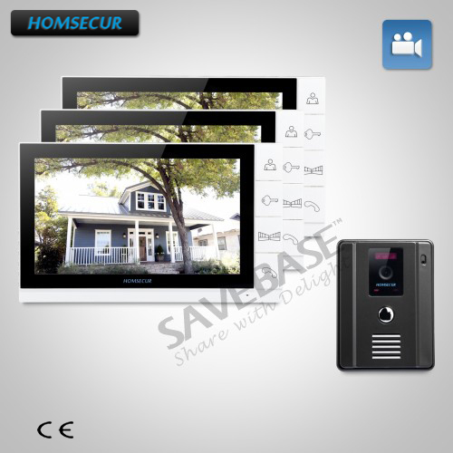 HOMSECUR Wired Video Door Phone Intercom System with 9 TFT LCD Monitor+1/4 CMOS Camera