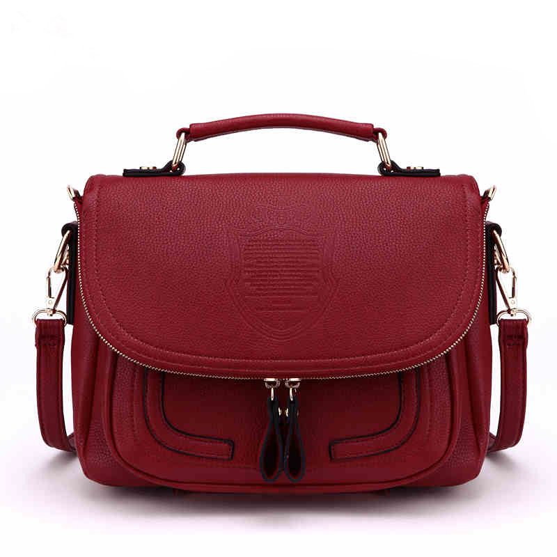 купить vintage Messenger bag Women leather handbags Famous Brands Shoulder Bags Designer Handbag High Quality Ladies Hand Bags Tote sac по цене 4229.58 рублей