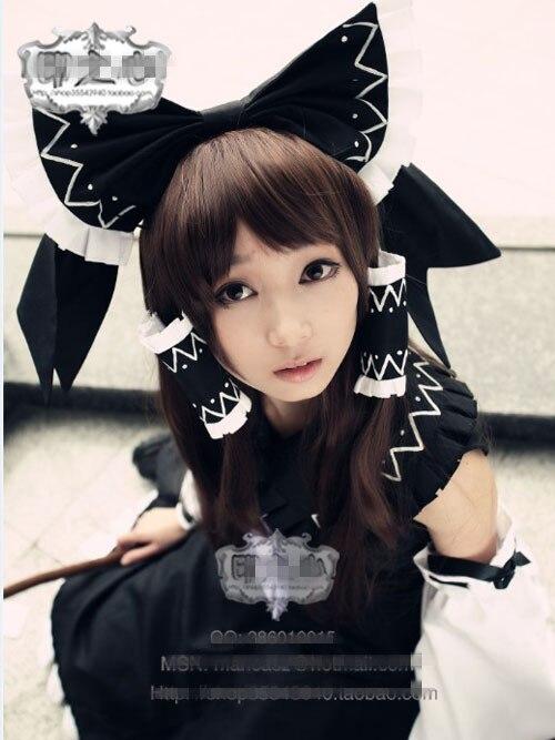 Touhou Project Sky of Scarlet Perception M Reimu Black spirit dream Fashion Lolita Dress Uniform Cosplay Costume Any Size