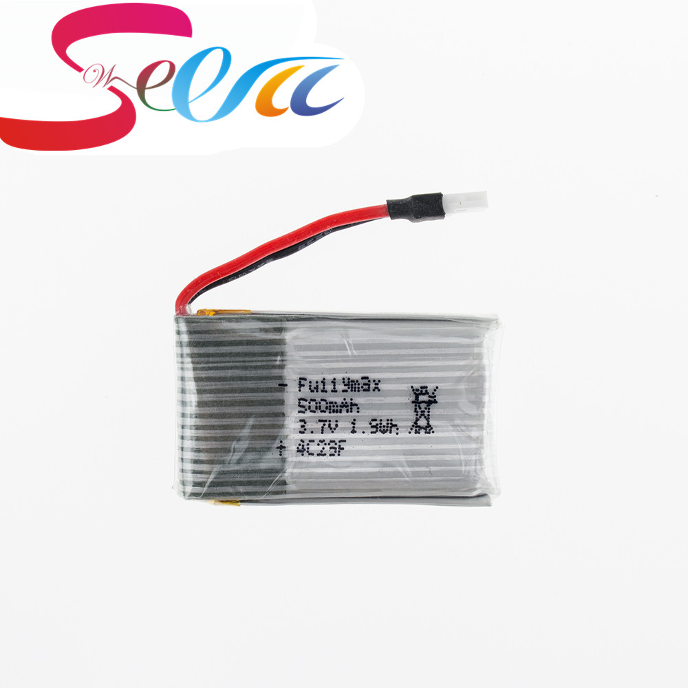 все цены на 20pcs Syma X5 RC Drone 3.7V Lipo Battery 500mah For Syma X5C X5SC X5A RC Batteria Quadcopter Helicopter Airplanes Parts High онлайн