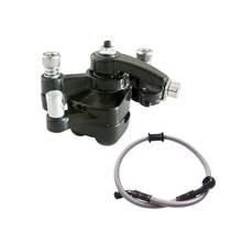 Discount! Oil Brake Fuel Line Rear Disc Brake Caliper W/ Pad 47cc 49cc Mini PIT Dirt Quad Pocket Rocket Bike gray