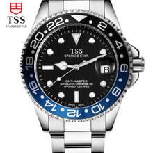Tss мужчины Вода часы из нержавеющей стали спортивные Механические часы Водонепроницаемые календарь световой военная Бизнес Relogiomasculino