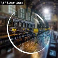 optical prescription 1.67 Single Vision aspheric HC TCM UV resin prescription lenses for myopia presbyopia astigmastism