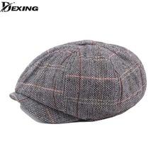 Patrones de cuadros de los Hombres boina caballeros Retro vendedor tapas  peaky blinders sombrero Casual plana d103b705d13
