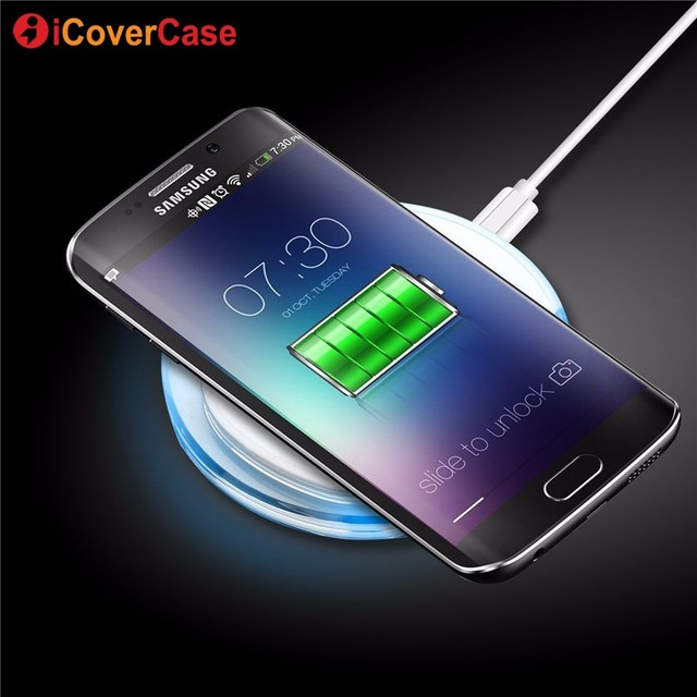 For Samsung S6 S7 Edge Universal Wireless Charger Power Bank for Samsung Galaxy S7 S6 Edge Note 5 Yotaphone 2 Charging Pad Cases