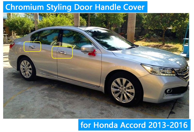 For Honda Accord 2013 2016 Accessories Chrome Door Handle 2014 2015 ...