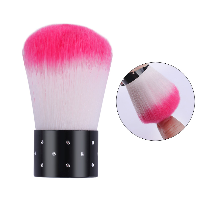 1 Pc Nail Art Brush UV Gel Powder Dust Remover Pink  Soft Cleaning  Nail Art Beauty Care Tool Accessory