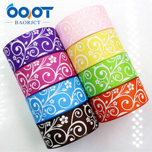 OOOT BAORJCT 176306,22mm 10yard Cartoon Ribbons Thermal transfer Printed grosgrain Wedding Accessories DIY handmade material