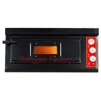 Black Single layer pizza baking Oven Professional bread oven commercial electric oven price bakery equipment for sale pizza oven