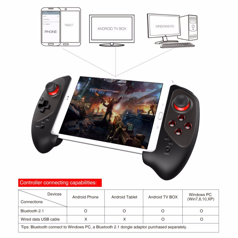 IPEGA PG-9083 Bluetooth 3.0 manette de jeu sans fil pour Android/iOS manette de jeu rétractable pratique manette rétractable - 4