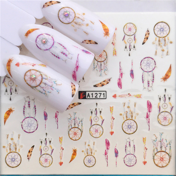 2020 Hot Nail Sticker Dream Catcher/Butterfly/Flower Water Transfer Stamping Art Tips Decor Manicure Decal