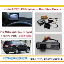 Auto Rear View Camera Back Up + 4.3″ LCD Monitor = 2 in 1 Parking Assistance System – For Mitsubishi Pajero Sport / Pajero Dark