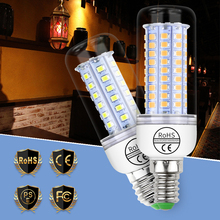 цена на Ampoule LED E27 Corn Bulb 2835 SMD 5730 Lampka LED Lamp E14 220V 24 30 36 48 56 69 89 102leds Chandeliers Candle Light Bulb 110V