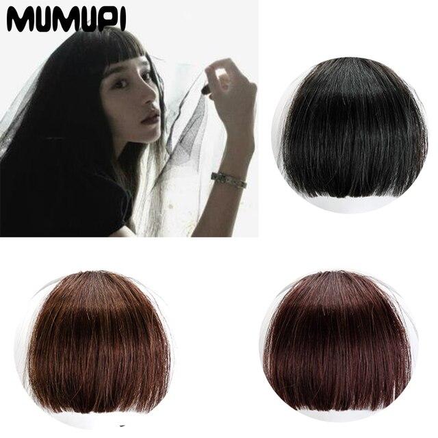 MUMUPI sintético de alta temperatura de fibra química sin rastro sedoso recto de encaje peluca frontal bangs peluca modelos femeninos