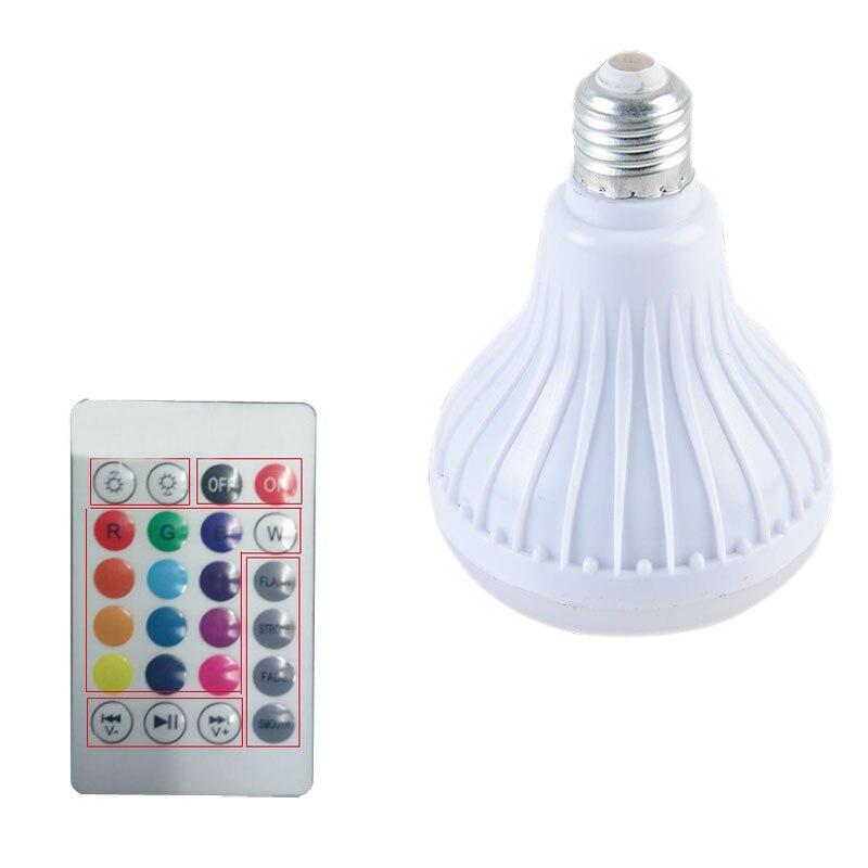 LED Беспроводной Bluetooth RGB Динамик лампы E27 LED RGB подсветкой Музыка играет лампа с Дистанционное управление бытовой clh