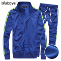 2015 Fashion AE Print Sportswear Suit Men Tracksuit Set Casual Sweatshirt Men Fitness Comfortable Tracksuit Cardigan Set