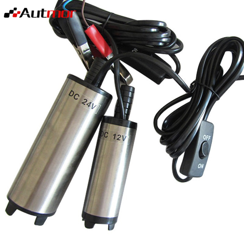 Diesel Fuel Transfer Pump 12V24V 12LPM Aluminum Diesel Fuel Water Oil Transfer Refueling Submersible Pump Diesel Water Pump Car 51mm dc 12v water oil diesel fuel transfer pump submersible pump scar camping fishing submersible switch stainless steel