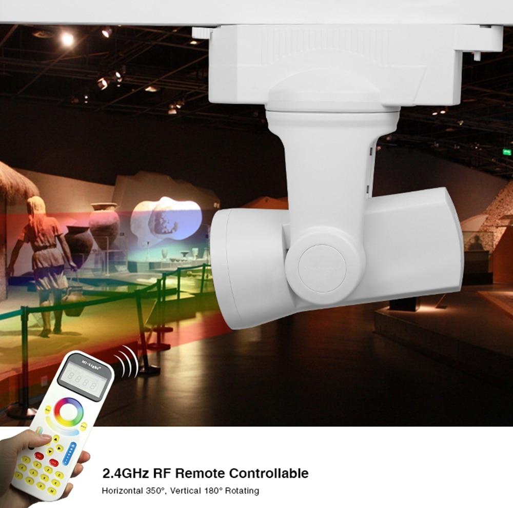 Milight 2.4G AL3 25W Alpha Lite 2-Wire RGBW Led Auto Tracking Light Wireless FUT090 Remote Control AC100-240V