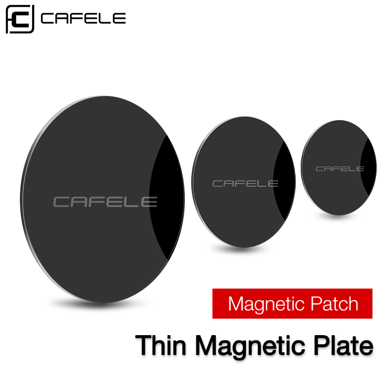 CAFELE Car Phone Holder Magnetic Disk Metal Plate Leather Iron Sheets Sticker Magnet Metal Plate For Mobile Phone Holder Stand in Phone Holders Stands from Cellphones Telecommunications