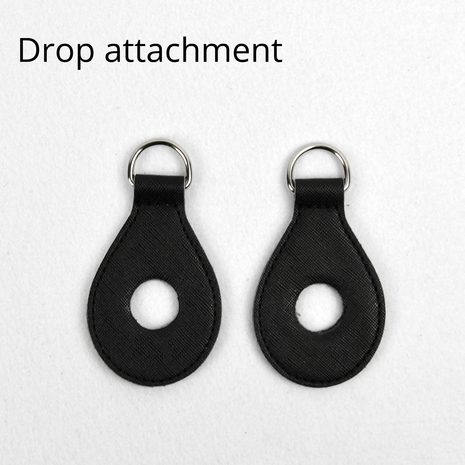 1 Pair 2 Pc PU Leather Drop Shaped Attachment Accessory Fitting With Holes For Obag Shoulder Strap For O Bag Handbag Women Bag