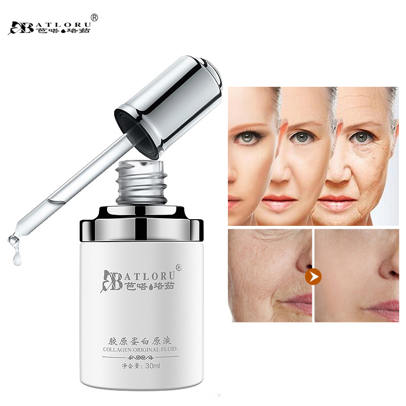 Batloru Pure Collagen Protein Anti Wrinkle Aging Moisturizing Whitening Lifting Face Skin Repair Essence Liquid Facial Serum