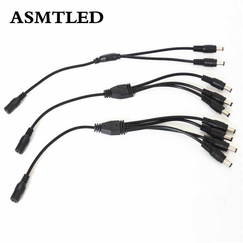 ASMTLED offre spéciale 1 femelle à 2 3 4 prise mâle connecteur d'alimentation cc adaptateur séparateur pour caméra CCTV câble contrôleur RGB