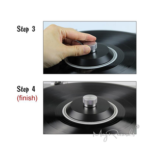 Image 3 - POM Vinyl Record Clamp 76g LP Disc Stabilizer Record Weight Turntable Vinyl Clamp Vibration Damper