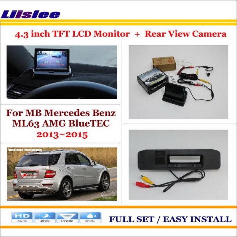 Liislee pour Mercedes Benz ML63 AMG BlueTEC caméra de stationnement de voiture + 4.3
