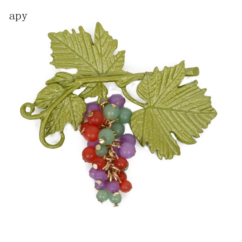 2008 nueva moda y Popular accesorios de uva de pecho botones de Pin externo  decoran broches atmosféricos de lujo