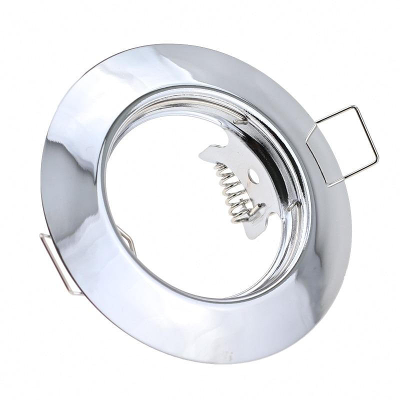 New Design Round Chrome LED Spot Light Fittings Fixture GU10 MR16 Downlight Lamp Fixture Led Ceiling Light Frame For Housing
