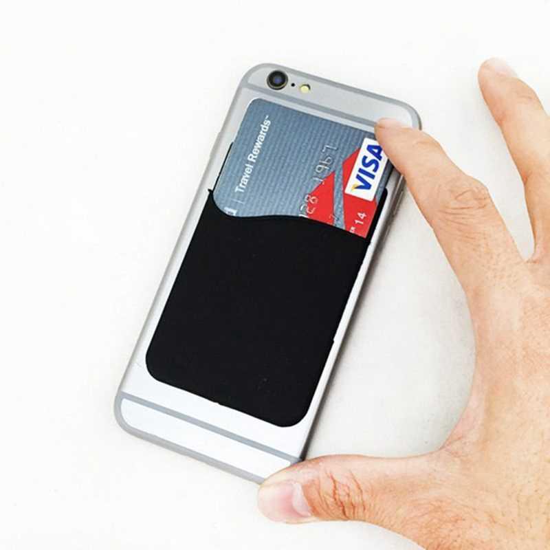 1 шт. задняя крышка клейкая наклейка SIM/ID/Кредитная карта Карманный чехол держатель для iPhone samsung розетка Android смартфонов