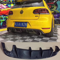 Golf 6 GTI Carbon Fiber Car Styling Rear Bumper Diffuser for Vilkswagen MK6 GTI Bumper Only
