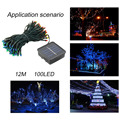 2017 Creative Decorative Light 12M 100LED IP68 LED Holiday String Lights Christmas Festival Party Fairy Colorful String Lights