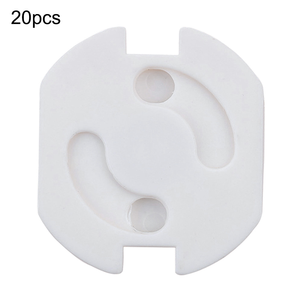 20pcs/ Pack White European Power Safe Child Socket Cover Household Supplies Safety Anti Electric Shock Child Socket