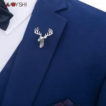 Savoyshi серебряный цвет форма оленя отворот булавки прекрасный