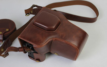 Deluxe PU Leather camera bag case with battery pouch shoulder strap For fuji film XT2 Camera bag 18-135mm lens 10-24mm