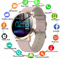 Smart Watch Waterproof IP67 1.22 Inch Blood Pressure Monitoring Metal Starp Multi Sport Modes SmartWatch Women Band Sport Watch