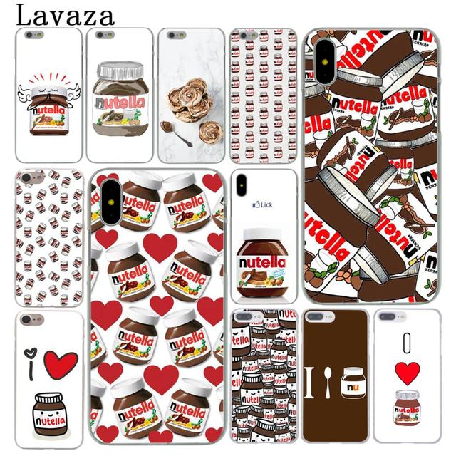 lavaza chocolate food tumblr nutella cute cover case for apple iphone x xs max xr 6