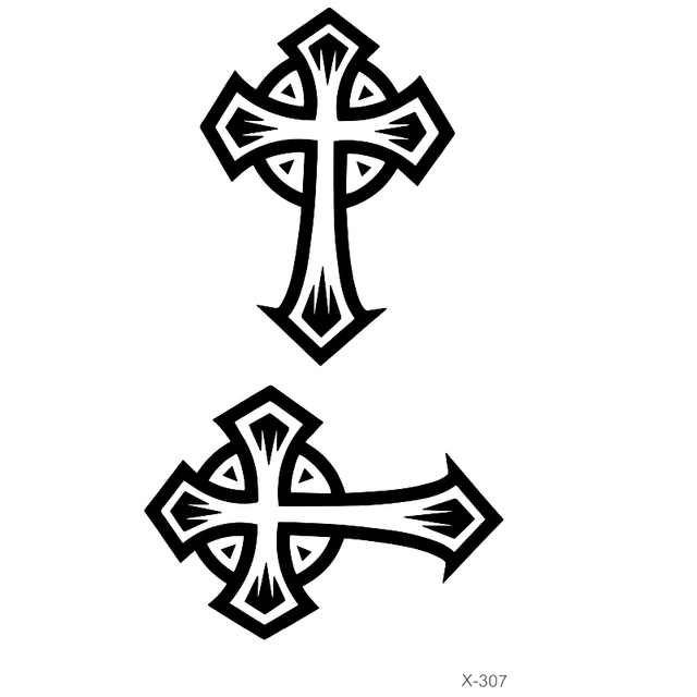 Cross Waterproof Temporary Tattoos Men And Women Flash Tattoo Small