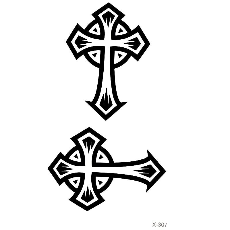 Krzyż Wodoodporna Tymczasowe Tatuaże Mężczyźni I Kobiety