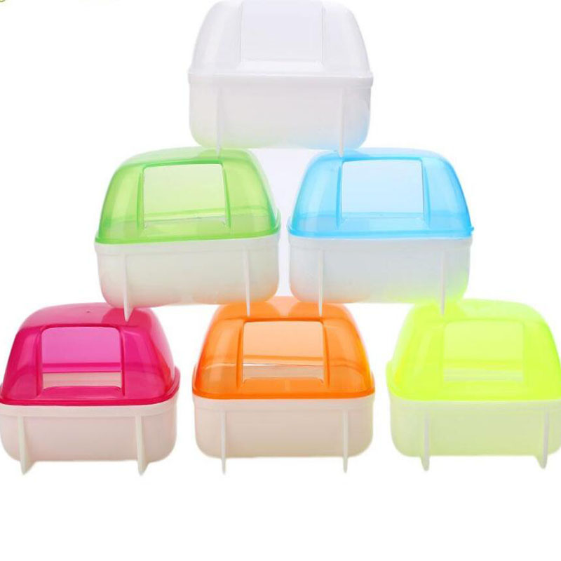 Hamster Small Pet Bathroom Bath Sand Room House Sauna Toilet Bathtub Plastic House Pet Supplies